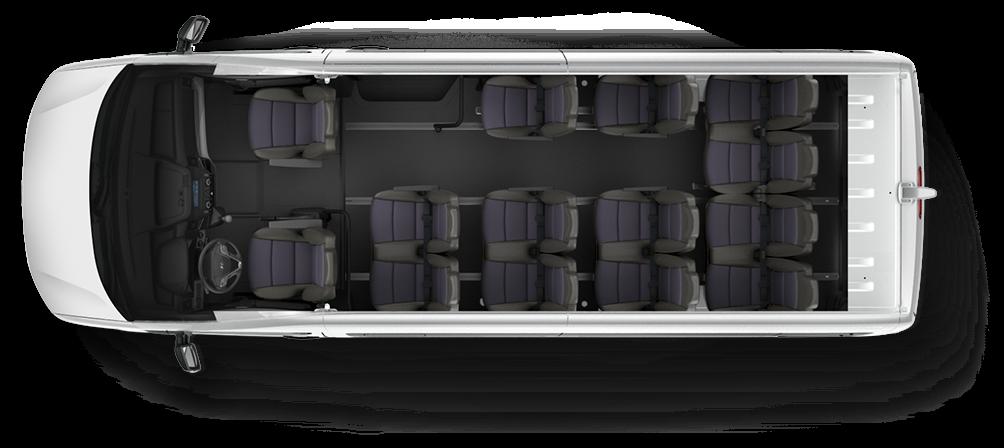 Nội thất xe khách hyundai HD350 16 chỗ