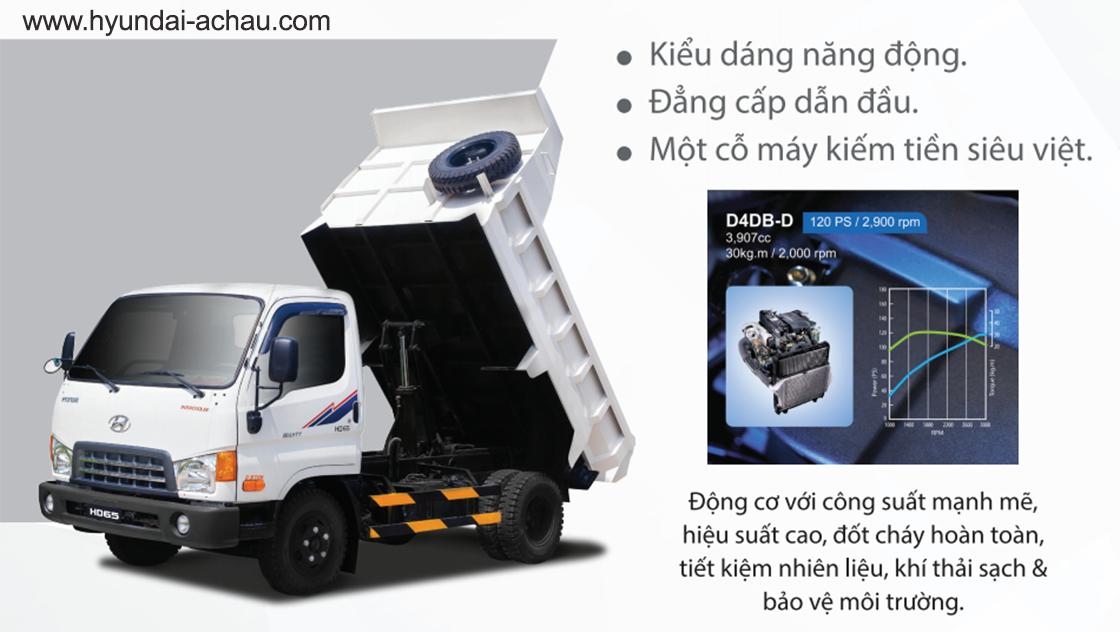 xe ben Hyundai 2.5 tấn HD65