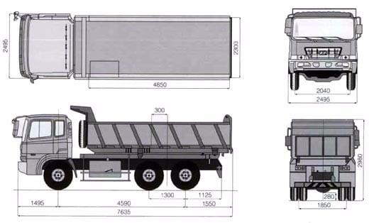 bản vẽ xe ben hyundai hd270