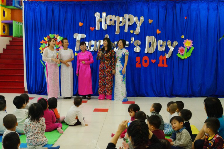 Teachers' Day celebration at Maple Bear Canadian Kindergarten
