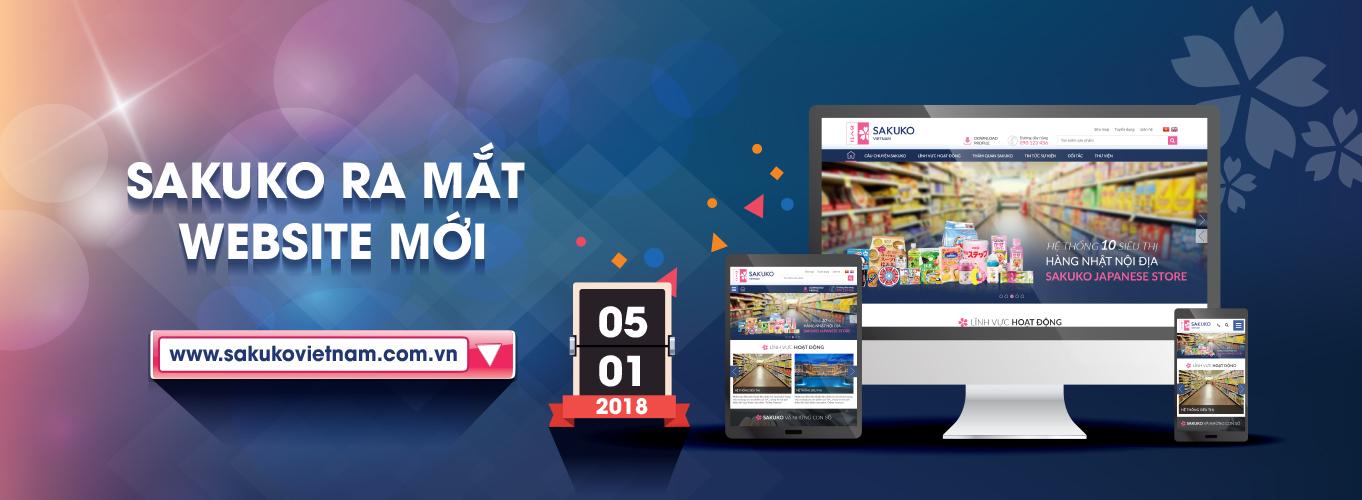 Sakuko Việt Nam ra mắt website mới ngày 5/1/2018