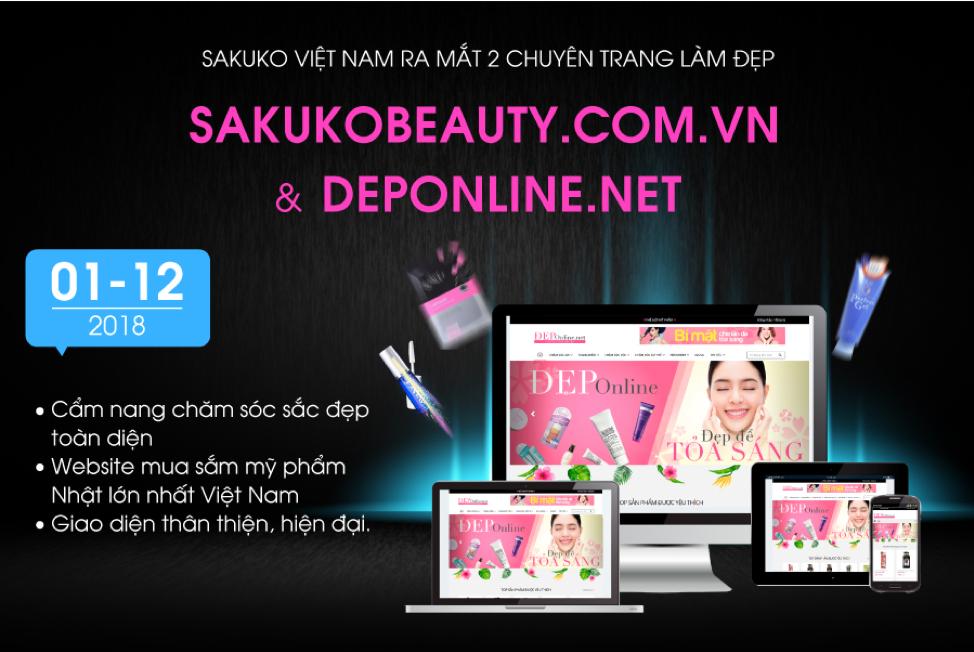 Sakuko Việt Nam chính thức ra mắt 2 chuyên trang làm đẹp online