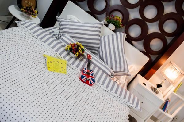 Chăn ga gối cao cấp Gnight được làm từ vải cotton lụa Hàn Quốc
