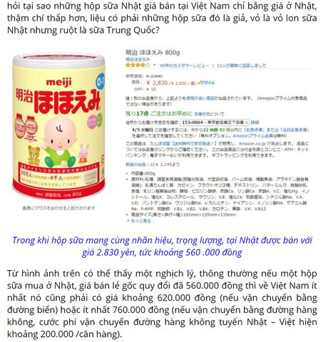 [Sự thật]:Chỉ 1% sữa Meiji nội địa Nhật là hàng xách tay,còn lại là..?