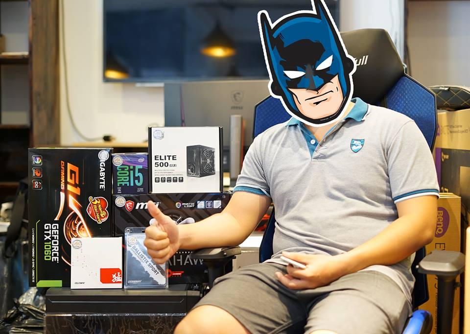 Bộ PC khủng của anh Batman đẹp trai