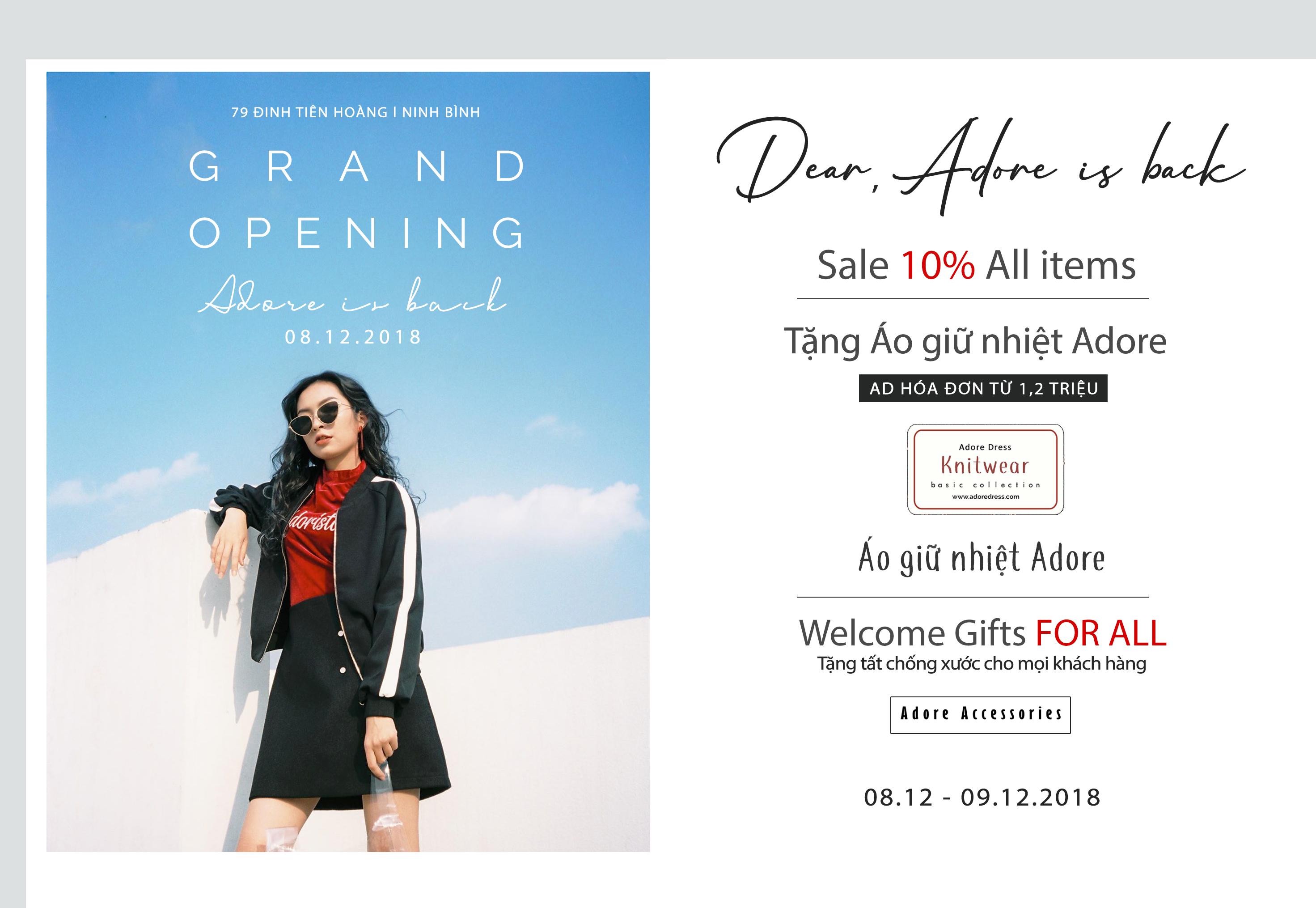 Tưng bừng khai trương cửa hàng ADORE DRESS NINH BÌNH