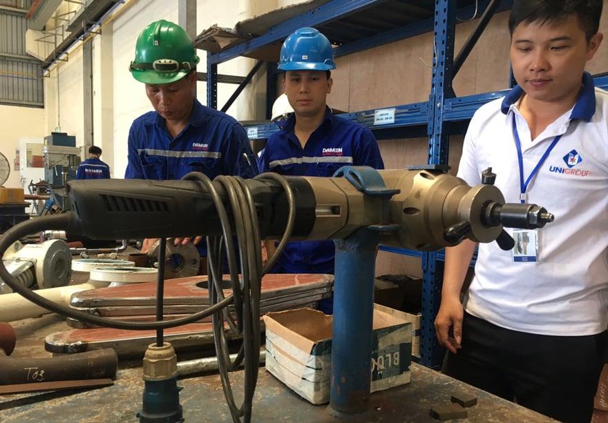 Báo giá máy vát mép ống thép cầm tay chính hãng Châu Âu