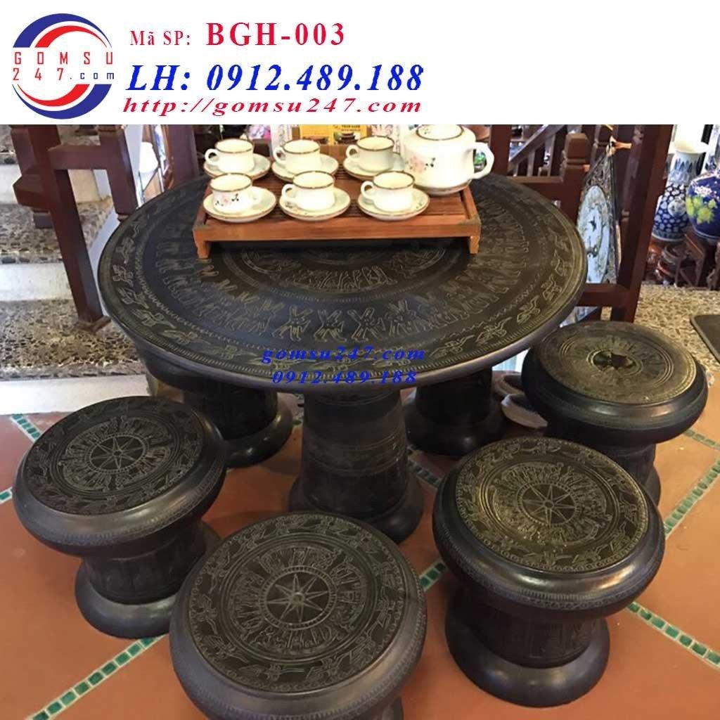 Những mẫu Bộ bàn ghế gốm sứ Bát Tràng đẹp