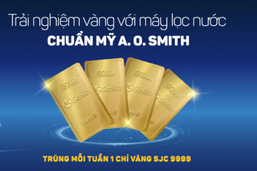 Trải nghiệm vàng với máy lọc nước A. O. Smith khi mua hàng tại Nguyễn Kim