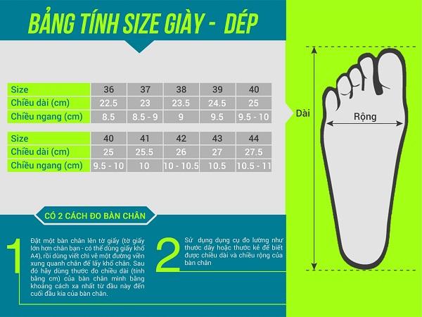 Hướng dẫn chọn size giày chuẩn 100% tại MENUP