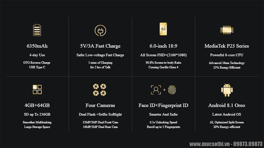 SmartPhoneStore.vn - Bán lẻ giá sỉ, online giá tốt smartphone ulefone power 3s pin khủng 6350mah chính hãng - 09175.09195