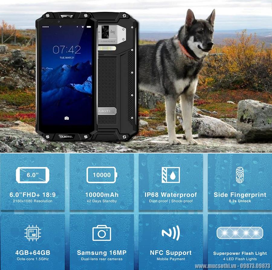 smartphonestore.vn - chuyên phân phối lẻ giá sỉ, online giá tốt smartphone siêu bền pin khủng oukitel wp2 chính hãng - 09175.09195