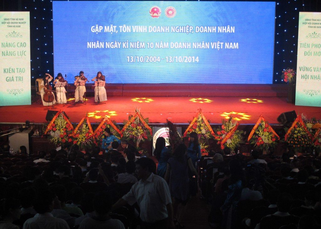 Chairman - General Director of TrungThanh, Mr. Phi Ngoc Chung attends Ha Nam Entrepreneur Festival
