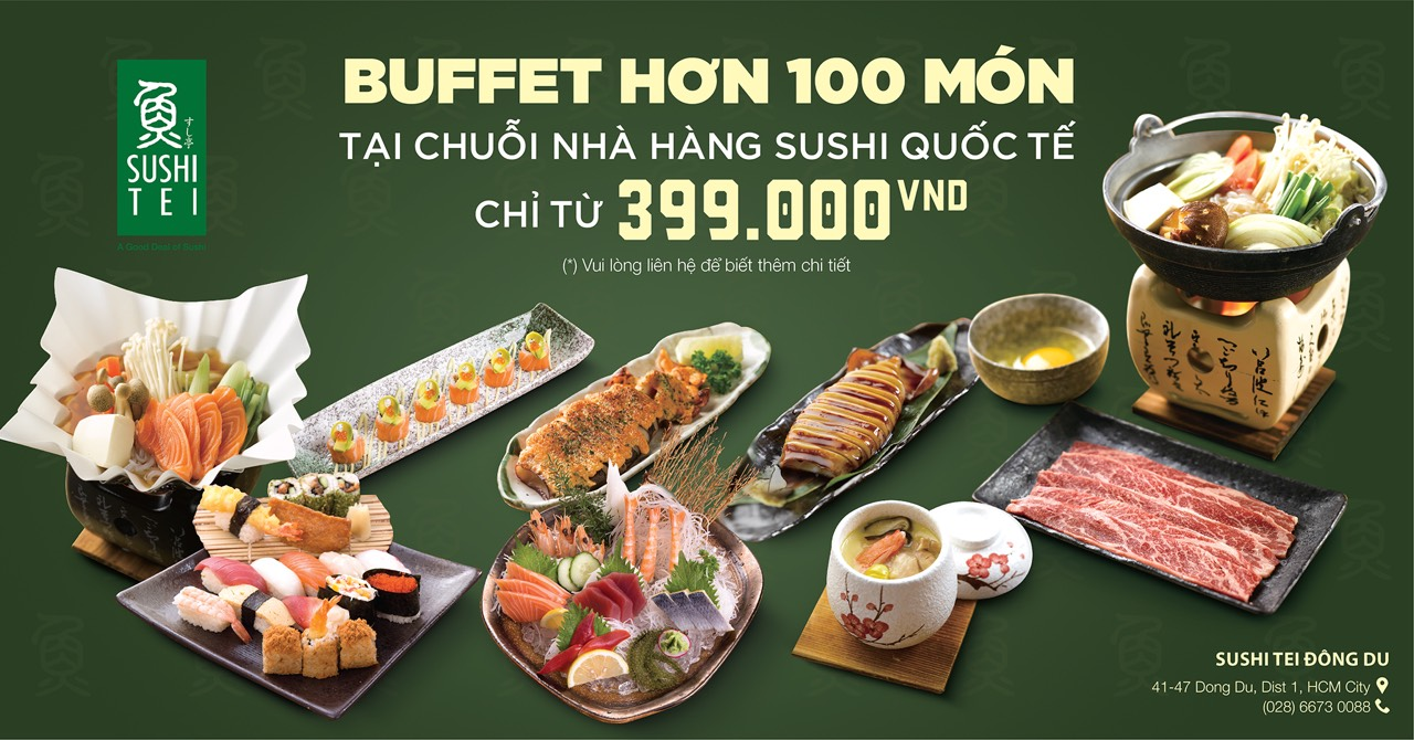 ENJOY NEW BUFFET FROM SUSHI TEI