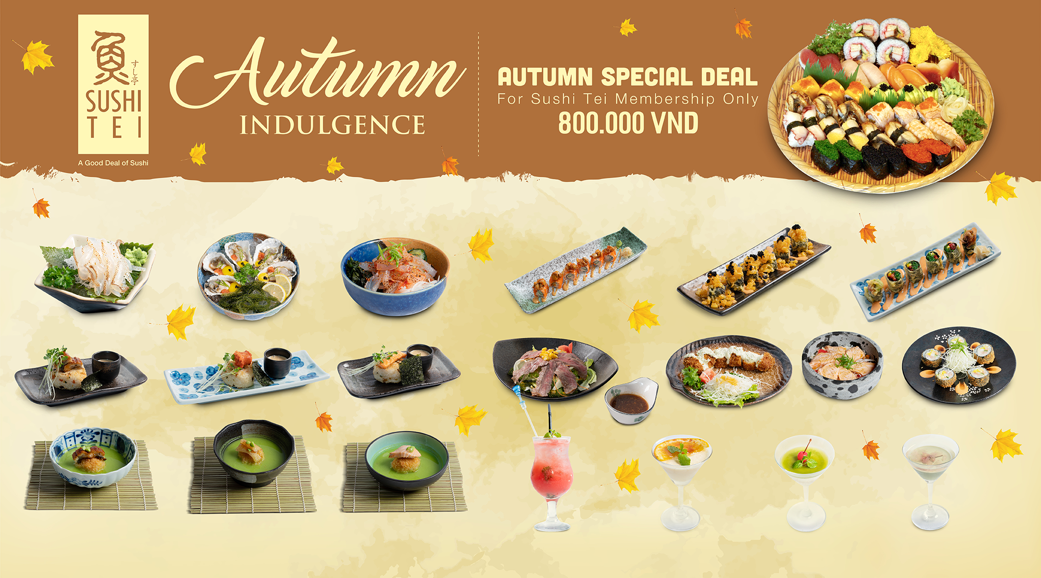 REFRESH YOUR TASTE WITH SUSHI TEI AUTUMN INDULGENCE MENU 2018
