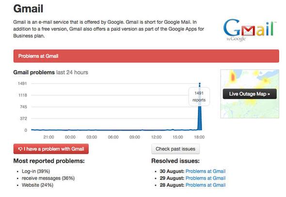 Gmail và Google Drive đang bị sập mạng trên phạm vi toàn cầu