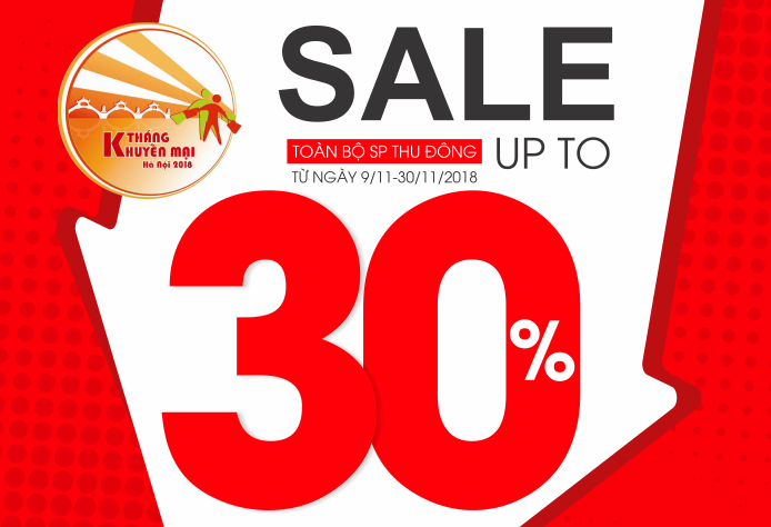 Hưởng ứng tháng khuyến mại Hà Nội – Sunfly sale up to 30% toàn bộ cửa hàng