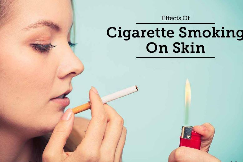 The effects of smoking on the skin