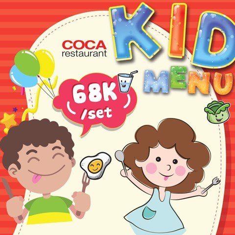 CHILDREN MONTH- FREE KID MEAL 68K/SET