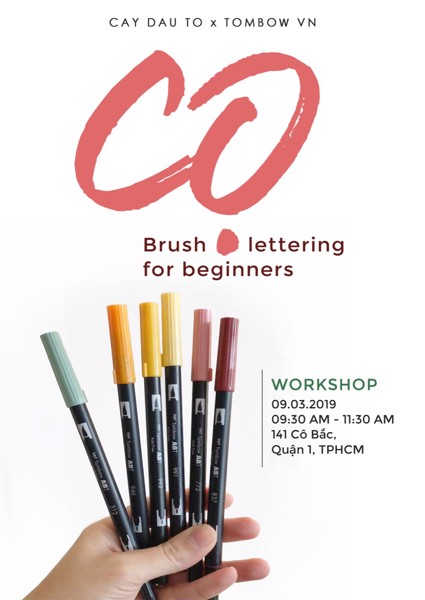 CỌ - WORKSHOP BRUSH LETTERING FOR BEGINERS