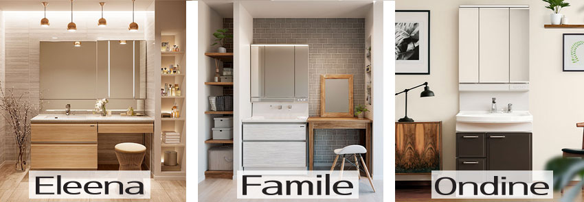 tủ gương washstand takara standard