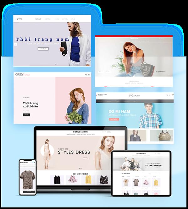 Giao diện website đẹp mắt và chuyên nghiệp