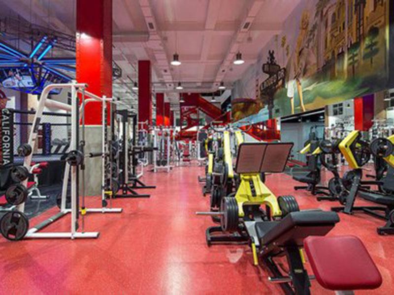 Sàn nhựa cao cấp Phòng tập gym California Fitness