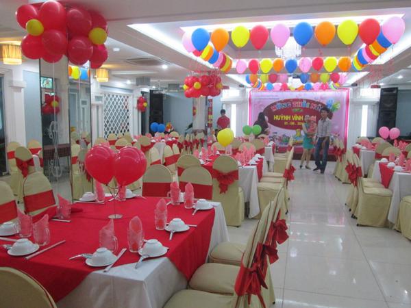 Không gian tổ chức bữa tiệc là một trong những yếu tố quyết định đến thành công