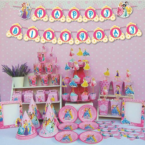 Set sinh nhật chủ đề công chúa Disney