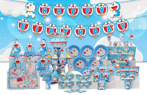 Set trang trí sinh nhật chủ đề Doremon