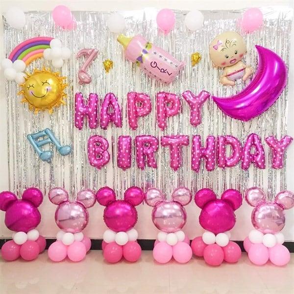 Trang trí tường bằng bóng sinh nhật đẹp mắt