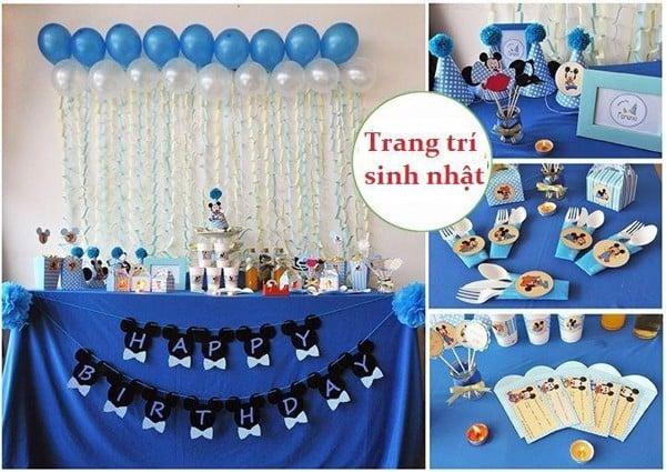 Cách trang trí tiệc sinh nhật đẹp lung linh mà không tốn kém