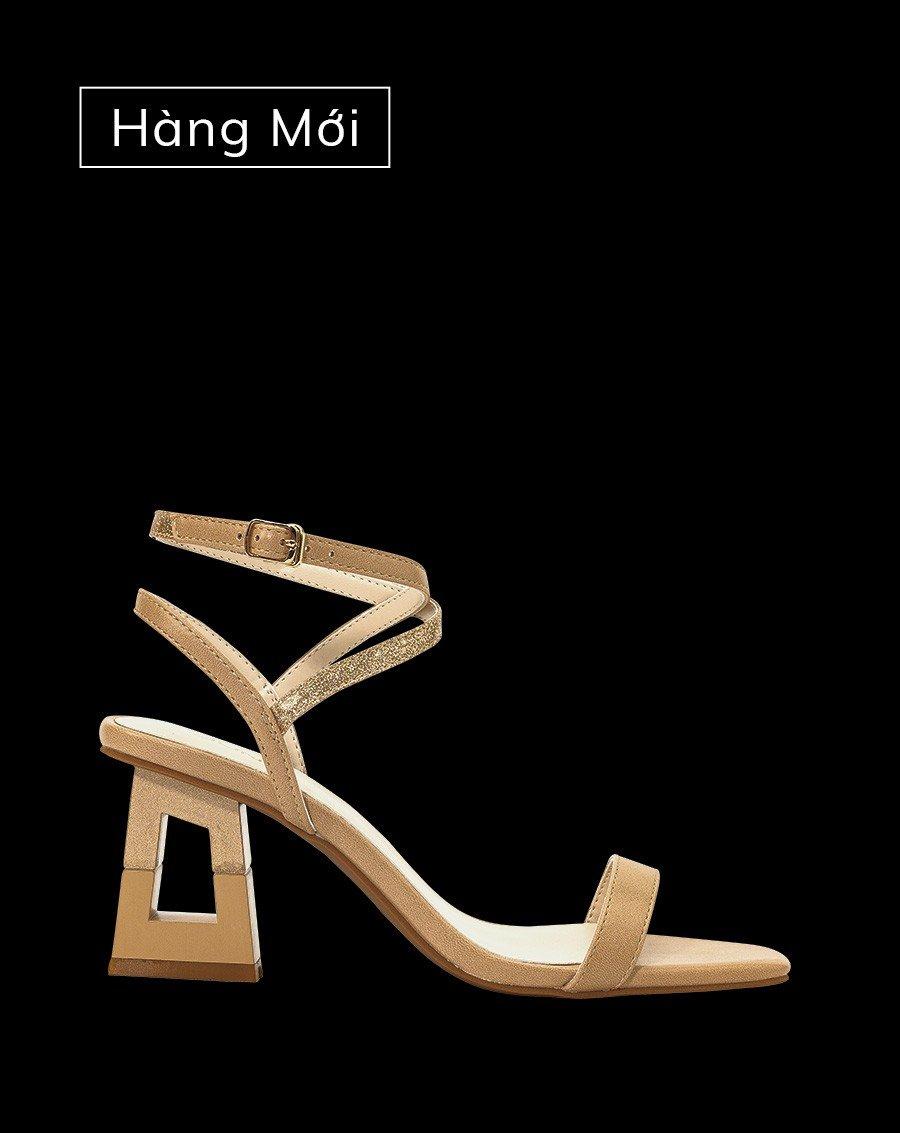Giày sandal phối dây kim tuyến