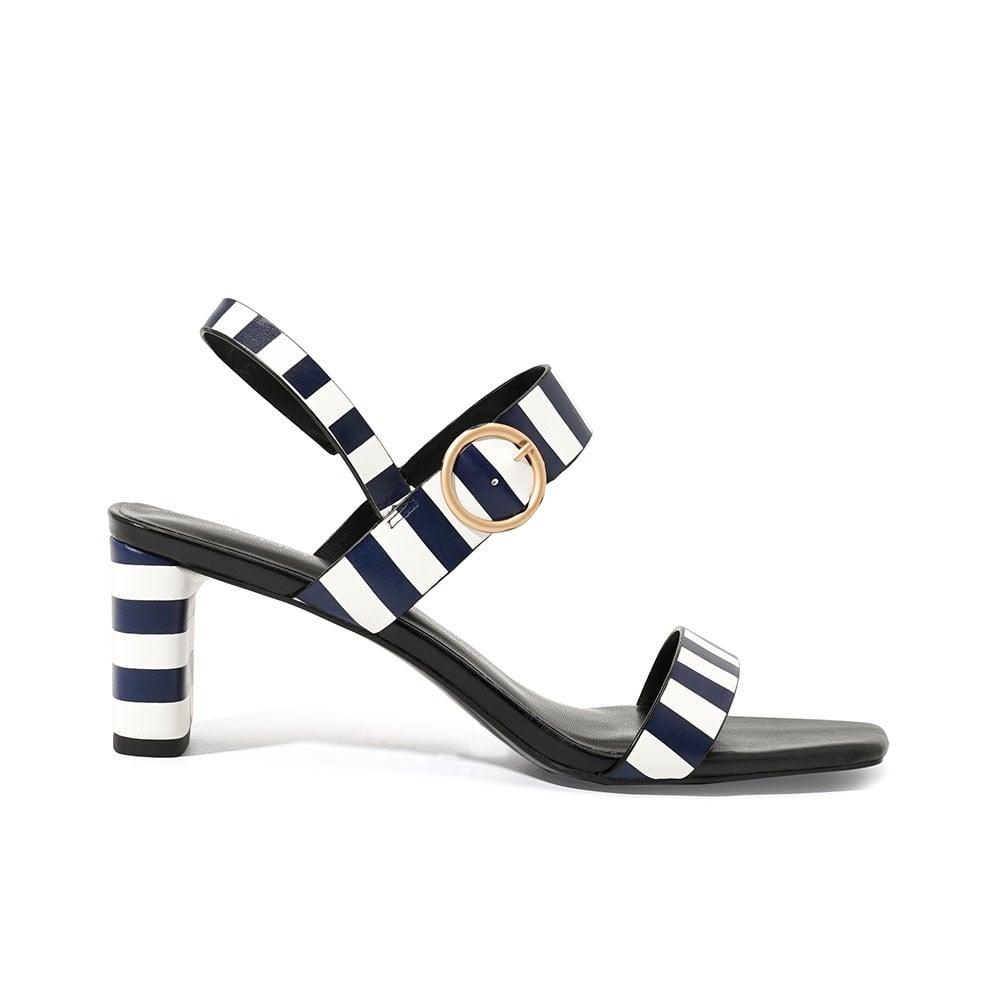 Giày sandal mũi vuông quai ngang