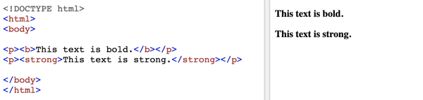 HTML text format