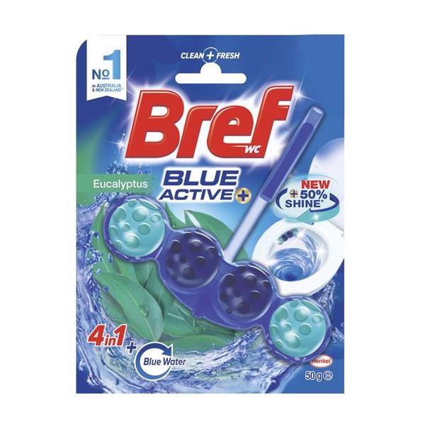 Thanh treo bồn cầu Bref Blue Active khử mùi và diệt khẩu