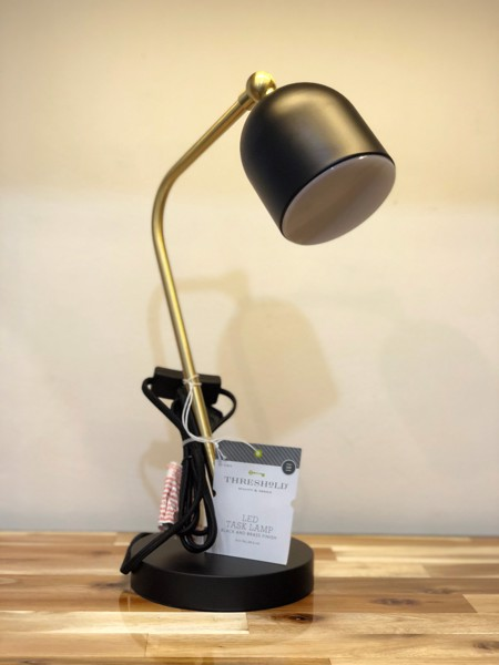 Thresshold LED TASK LAMP BLACK AND BRASS FINISH