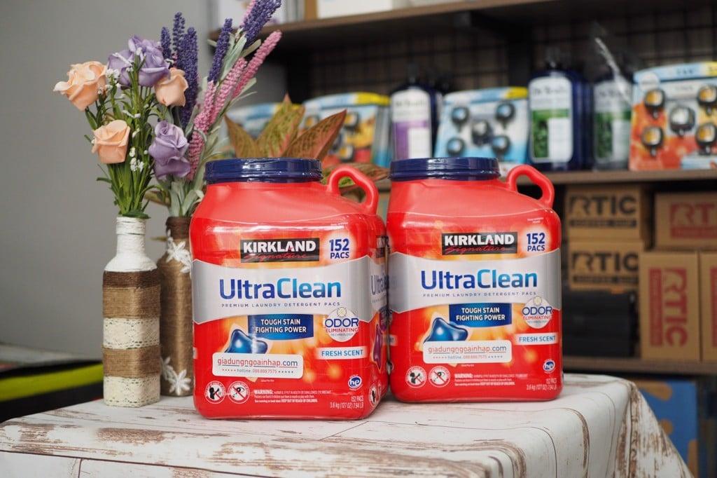 Viên giặt xả kháng khuẩn Kirkland Signature Ultra Clean