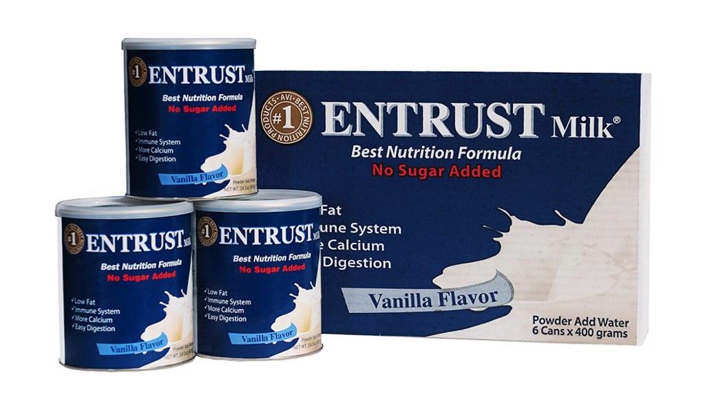 Sữa bột không đường Entrust Milk Hộp 400g