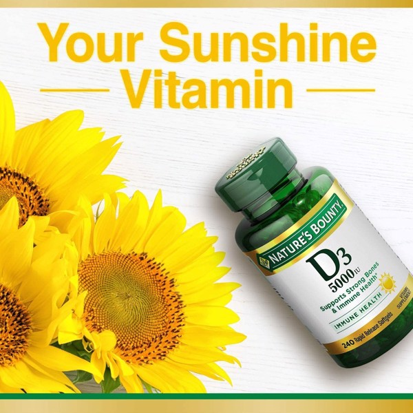 Nature's Bounty Vitamin D3 125mcg