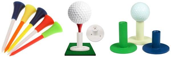 Tee golf đầu caosu mềm dẻo.