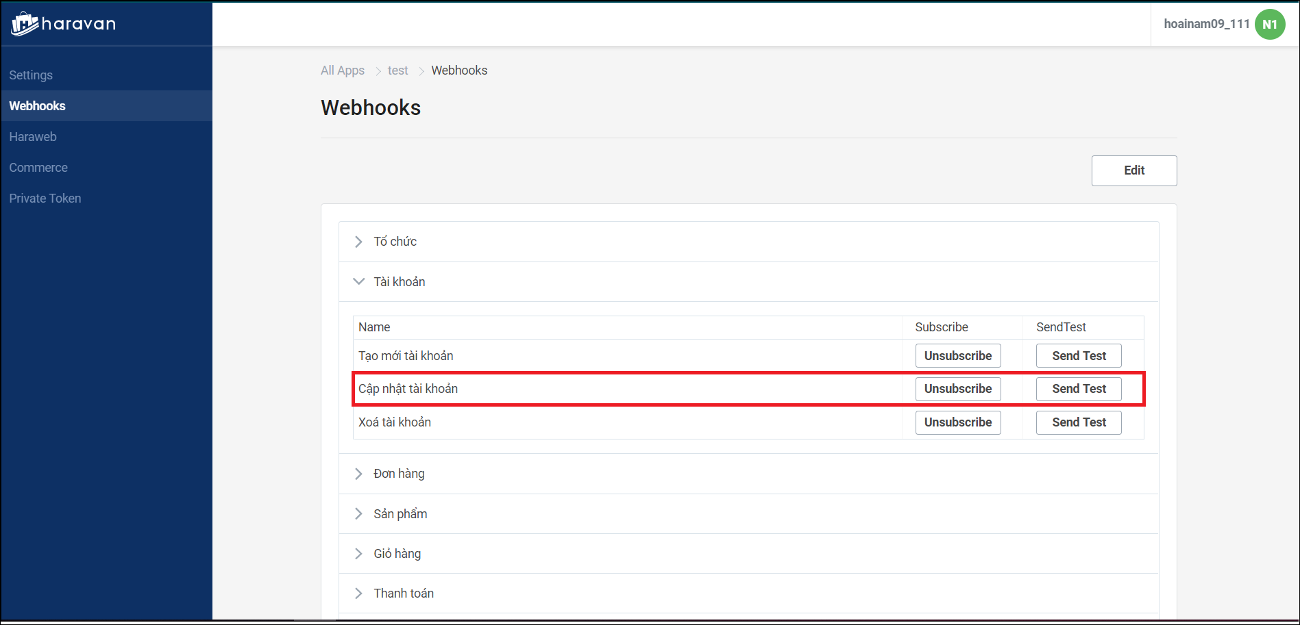 Receive notifications from webhook