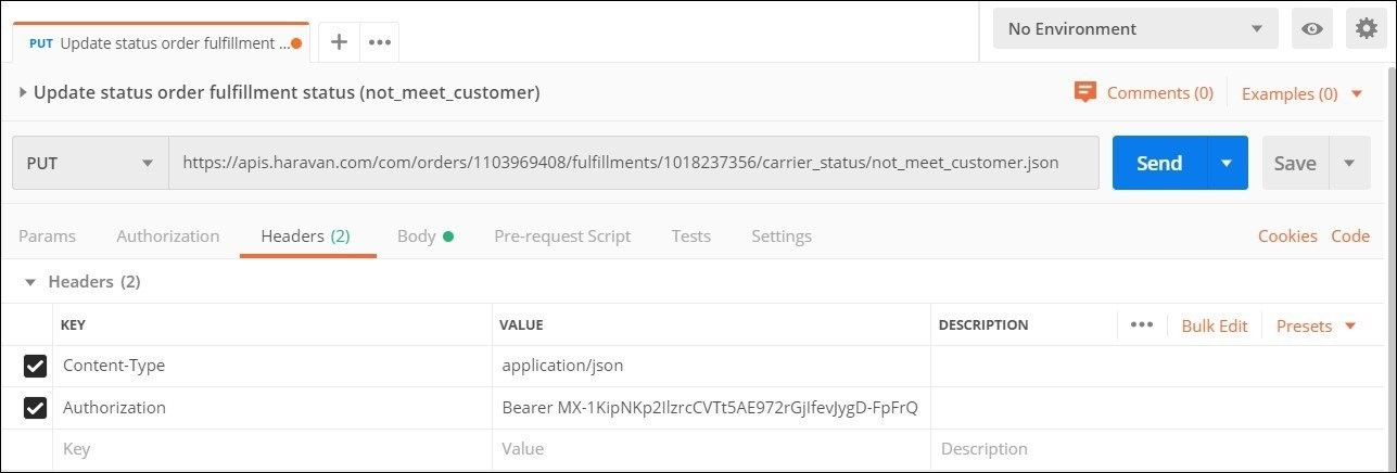 Update status not_meet_customer