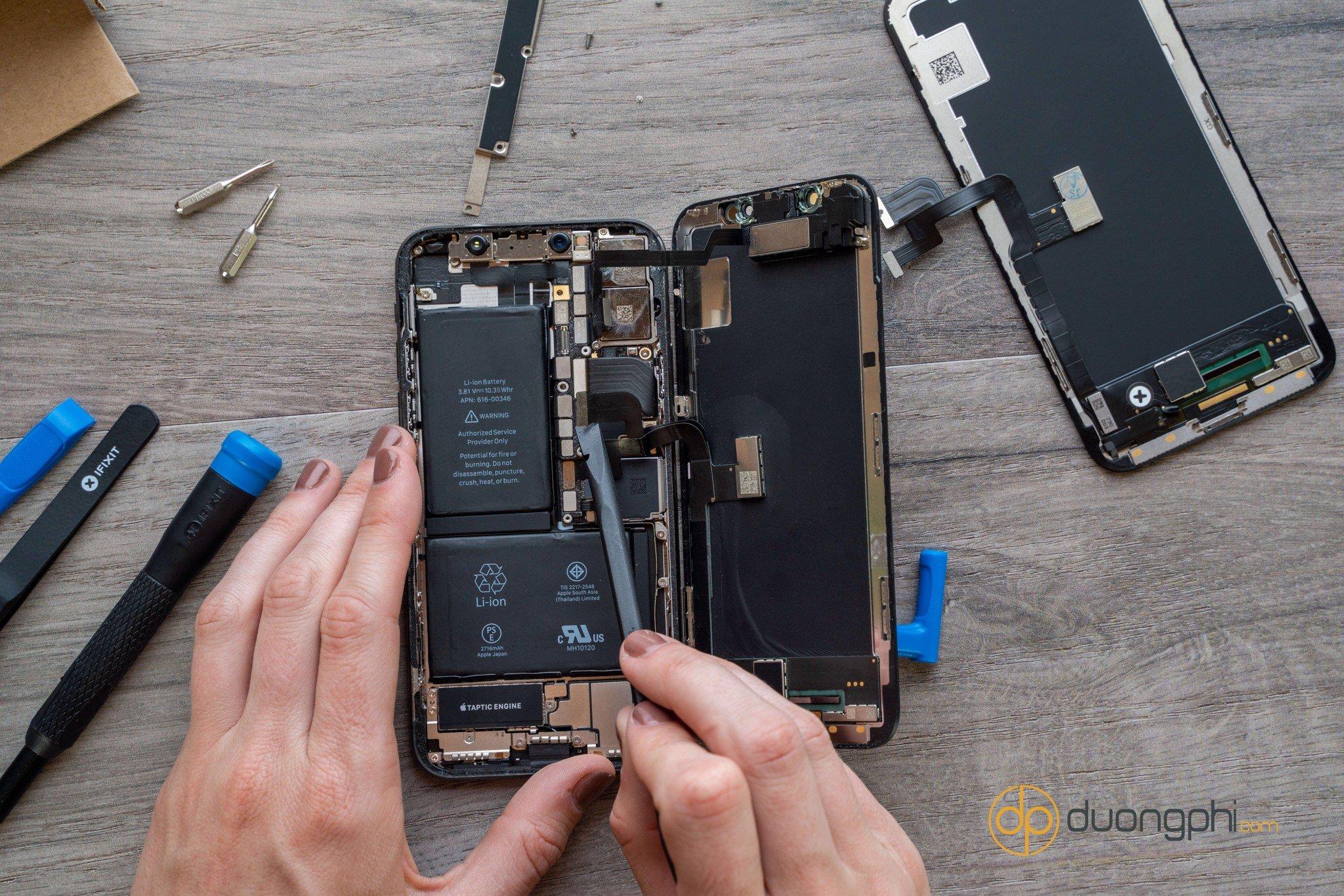 Thay pin iPhone X tại Vĩnh Long, bảo hành vĩnh viễn