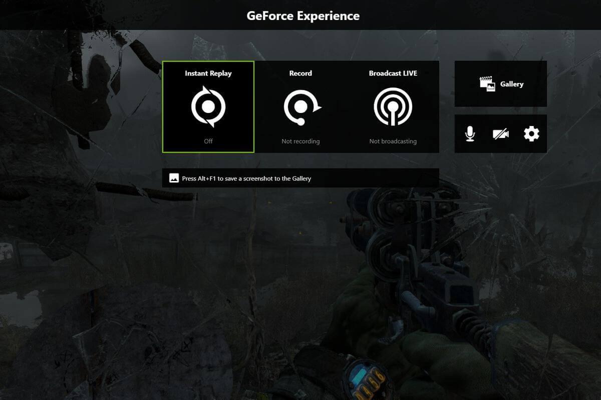Phầm mềm quay màn hình tốt nhất hiện nay - NVIDIA GeForce Experience