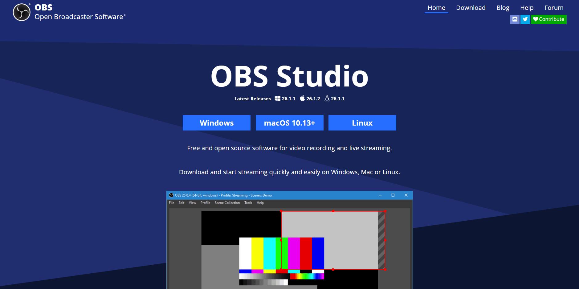 Tải phần mềm livestream OBS Studio tại trang chủ - GEARVN.COM