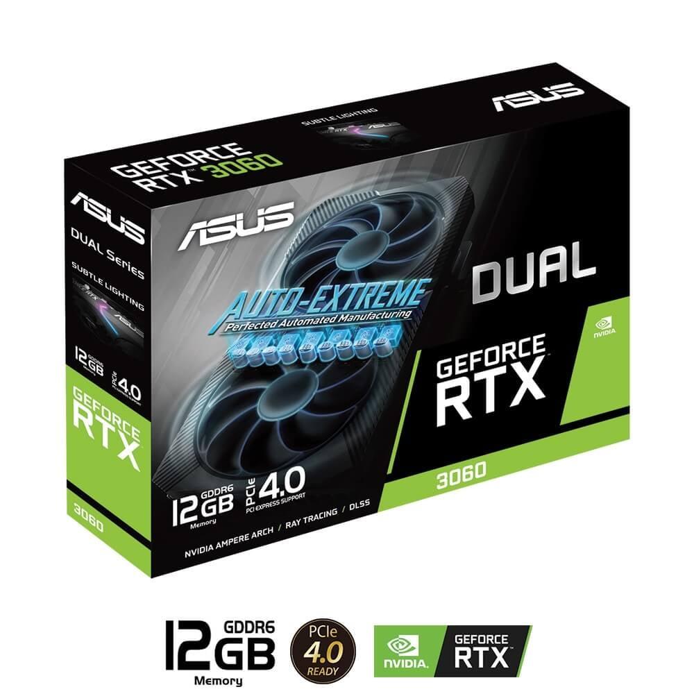 Card màn hình ASUS DUAL Geforce RTX 3060 12GB