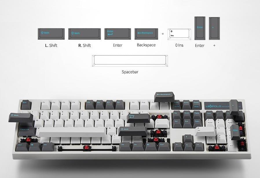 bàn phím Leopold FC660MPD Bluetooth White Dark Grey