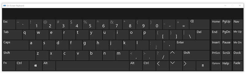 Cách mở bàn phím ảo trên máy tính