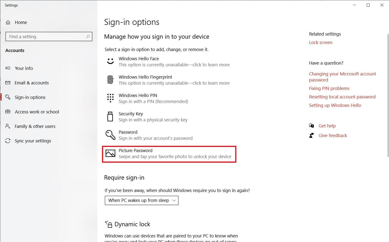 copypastetool.com - Hướng dẫn cài đặt mật khẩu hình ảnh cho máy tính bằng Settings